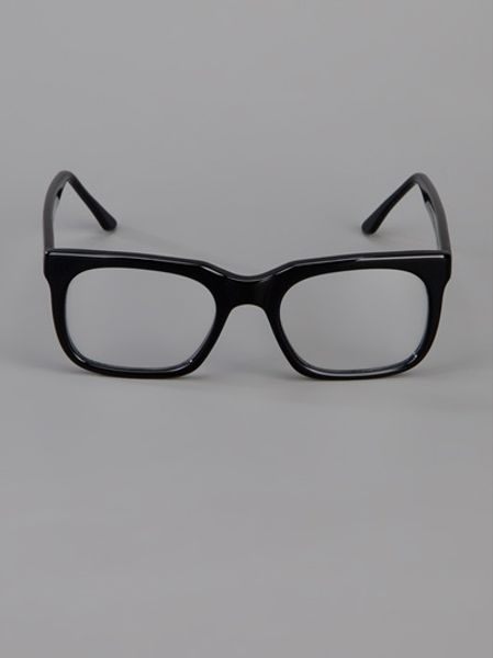 Glasses Frames Thick Black : Cutler & Gross Thick Frame Glasses in Black Lyst
