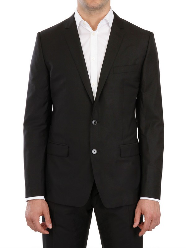 Dolce & gabbana Jaspé Wool Silk Blend Suit in Black for Men | Lyst