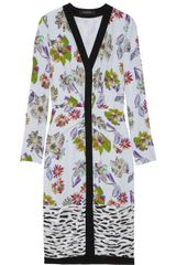 Etro Floralprint Crepe Dress - Lyst