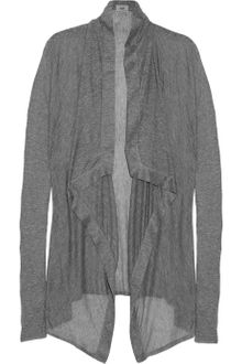 Helmut Lang Voltage Draped Ribbed Micro Modal Cardigan - Lyst