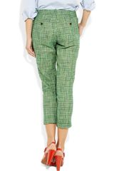 J.crew Café Tweed Capri Pants in Green (café) - Lyst