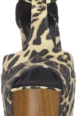 Jessica Simpson Womens Dany Platform Sandal in Animal (brown leopard linen) - Lyst