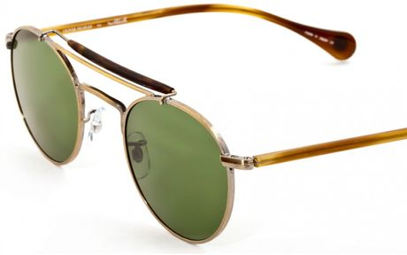 Oliver Peoples Soloist Round in Green for Men (pewter with cobalto mineral glas) - Lyst