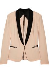 Rag & Bone Silver Tuxedo Cotton Blend Blazer