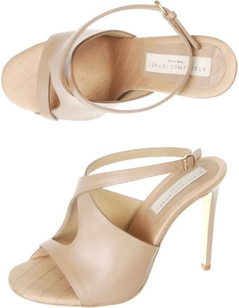 Stella McCartney Cutaway Sandals - Lyst