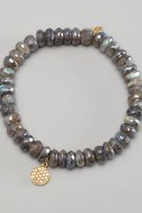 Sydney Evan Diamond Charm Beaded Bracelet - Lyst
