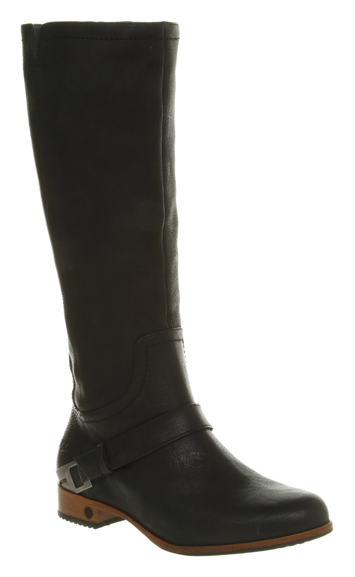 ugg australia channing knee boot black leather