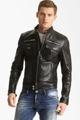 DSquared2 Chic Leather Moto Jacket - Lyst