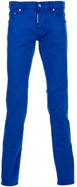 Dsquared2 Skinny Trouser in Blue for Men - Lyst