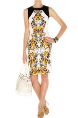 Karen Millen Mirror Pansy Print Dress - Lyst