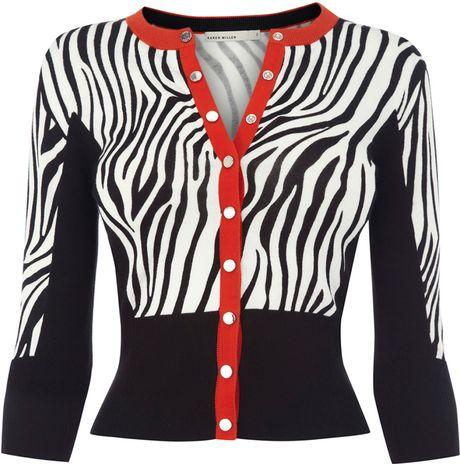 Zebra Print Cardigan Sweater 97