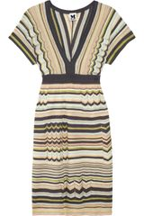 M Missoni Crochetknit Cotton Blend Dress - Lyst