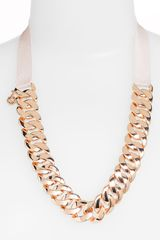 Marc By Marc Jacobs Pretty Turnlock Chain Necklace in Gold (rose gold/ beach) - Lyst