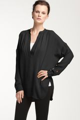 Vince Oversized Silk Blouse - Lyst