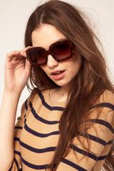 Asos Collection Asos Tort Square Sunglasses in Brown (tort) - Lyst