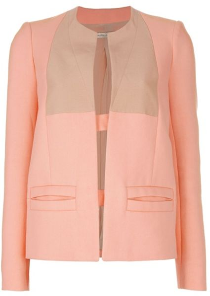 Balenciaga Bicolour Jacket in Pink (orange) - Lyst