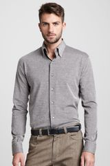 Ermenegildo Zegna Birdseye Buttondown Shirt - Lyst