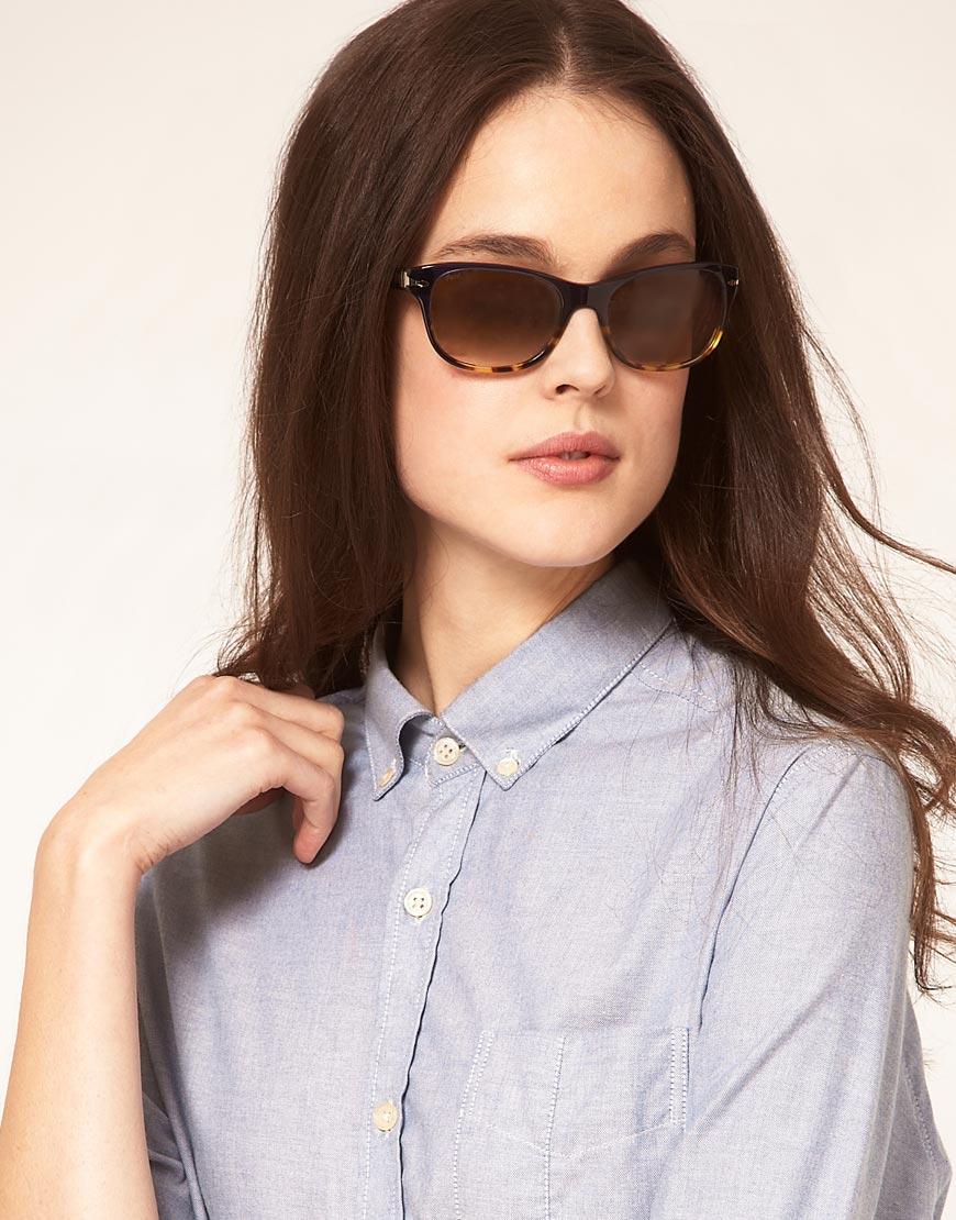 104c1fa2f7b Persol - Blue Square Graduated Sunglasses - Lyst