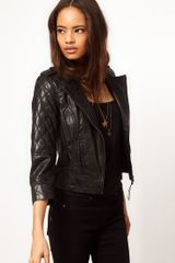 ASOS Collection Asos Collarless Quilted Biker Jacket