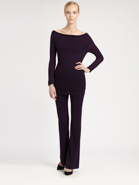 Donna Karan New York First Layer Cashmere Cowlneck Top in Black - Lyst