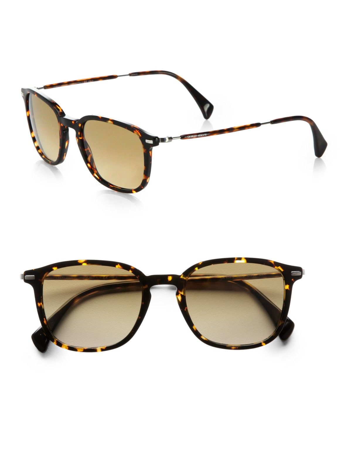 Lyst Giorgio Armani Retro Sunglasses In Brown For Men
