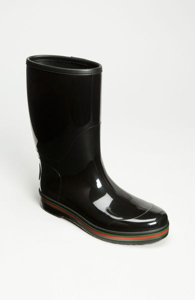 Gucci Brest Rain Boot In Black For Men Lyst