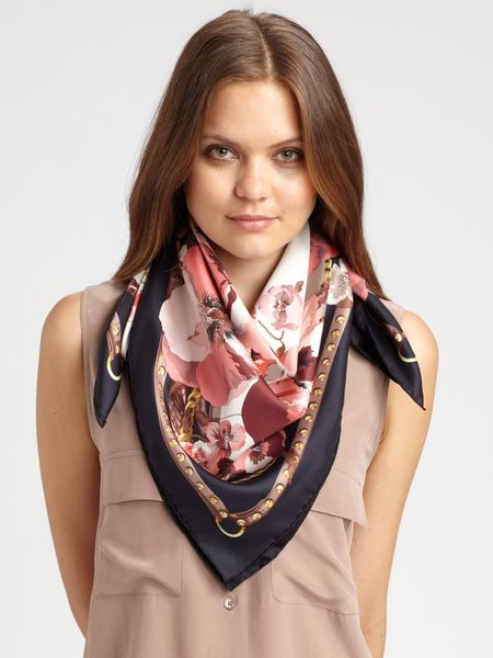 Gucci Silk Foulard Panshie Scarf in Multicolor (black) - Lyst