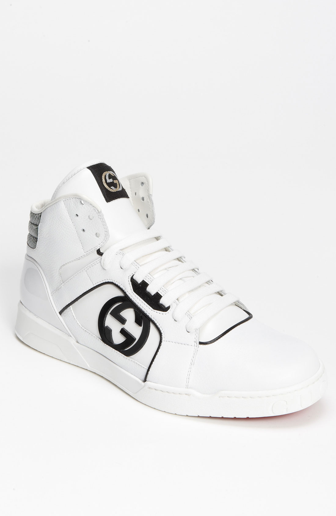 gucci rebound mid high top sneaker in white for men lyst. Black Bedroom Furniture Sets. Home Design Ideas