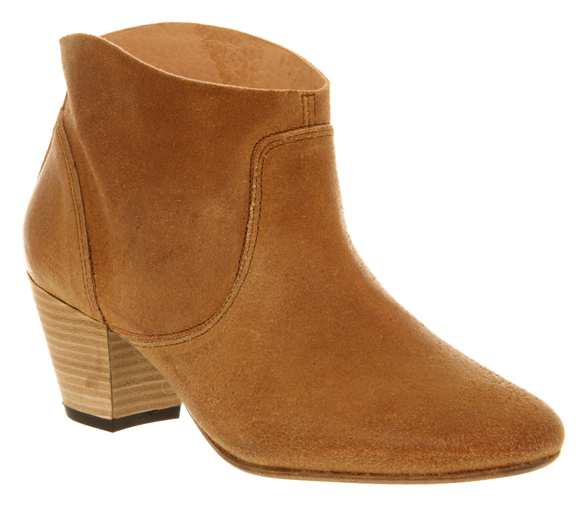 H by hudson Mirar Heeled Ankle Boot Tan Leather in Brown | Lyst