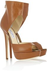 Jimmy Choo Beatrix Platform Leather Sandals - Lyst