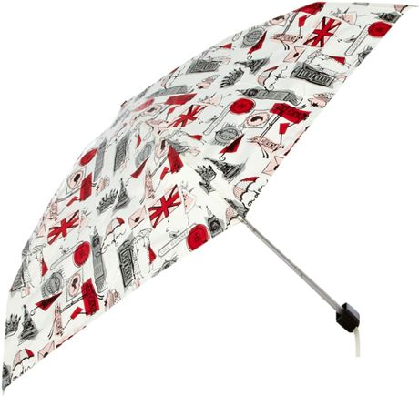 Lulu Guinness London Print Tiny Umbrella in Multicolor (black) - Lyst