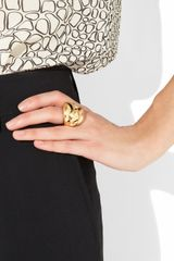 Oscar De La Renta 24karat Goldplated Ring in Gold - Lyst