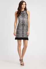 Roberto Cavalli Zebra Dress - Lyst