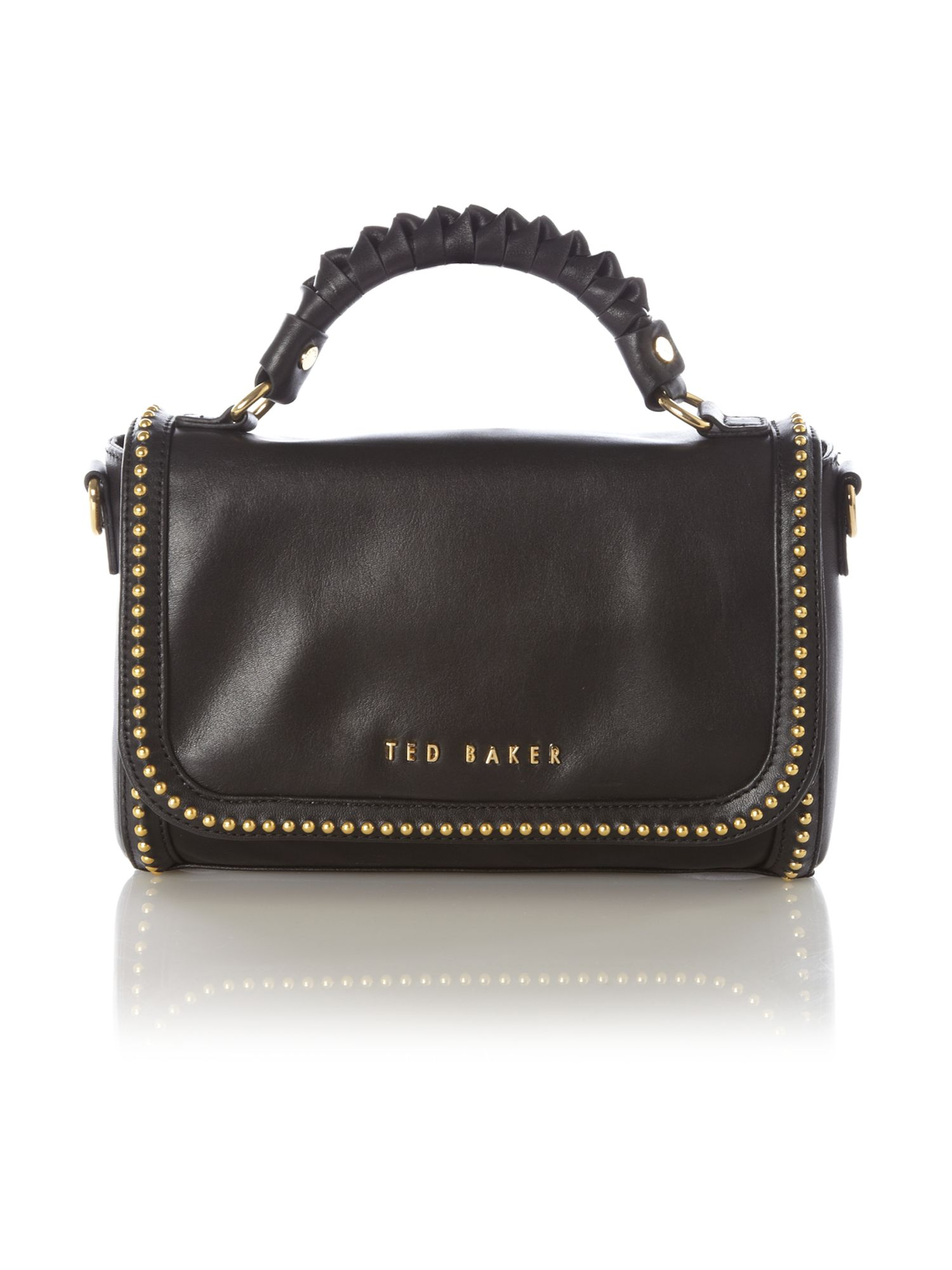Ted Baker Knotted Handle Crossbody Bag In Black Lyst