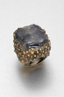 Yves Saint Laurent Shadow Broken Agate Ring - Lyst
