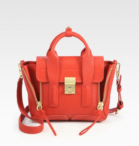3.1 Phillip Lim Pashli Mini Satchel in Red - Lyst