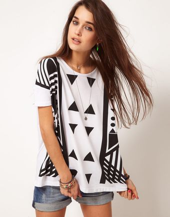 ASOS Collection Asos Tshirt Tunic in Graphic Print - Lyst