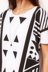 Asos Collection Asos Tshirt Tunic in Graphic Print in White - Lyst