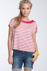 Chloe K Nautical Stripe Boxy Tee - Lyst
