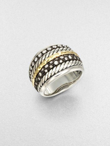 david yurman accented sterling silver 18k gold