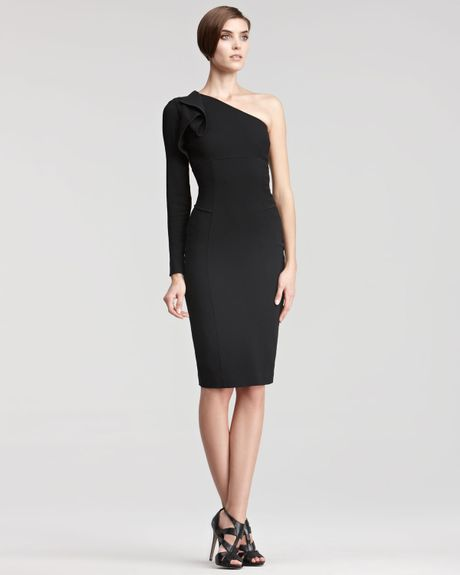 Elie Saab Onesleeve Dress in Black - Lyst
