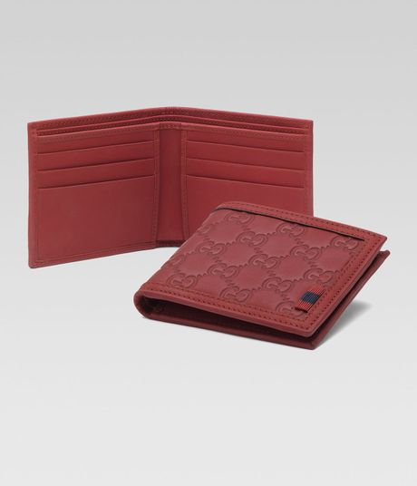 Gucci Bifold Wallet in Red for Men (deep scarlet) - Lyst