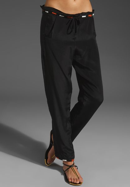 Henrik Vibskov Loop Pants in Black (black silk) - Lyst