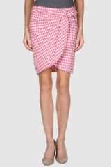 Love Moschino Knee Length Skirt - Lyst