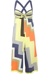 M Missoni Fineknit Cotton and Linenblend Playsuit - Lyst