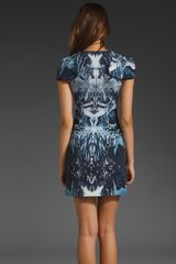 Mcq By Alexander Mcqueen Mcq By Alexander Mcqueen Moulded Torso Dress in Blue (electric blue) - Lyst