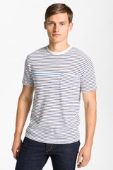 Rag & Bone Stripe Pocket Tshirt in Blue for Men (navy) - Lyst