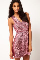 Tfnc Tfnc Dress Cross Front in Sequin - Lyst
