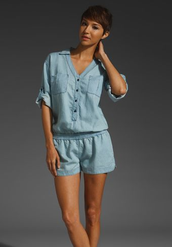 Ag Adriano Goldschmied All in One Denim Romper - Lyst