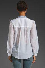 Alice By Temperley Rana Embroidered Shirt in White (white mix) - Lyst